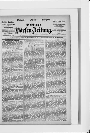 Berliner Börsen-Zeitung vom 07.07.1878