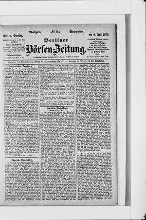 Berliner Börsen-Zeitung vom 09.07.1878