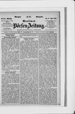 Berliner Börsen-Zeitung vom 10.07.1878