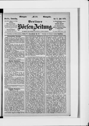 Berliner Börsen-Zeitung vom 11.07.1878