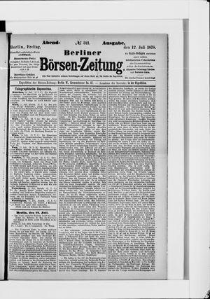 Berliner Börsen-Zeitung vom 12.07.1878
