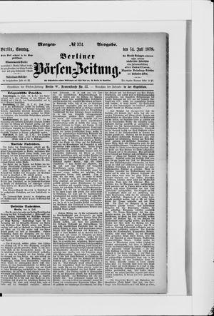 Berliner Börsen-Zeitung vom 14.07.1878