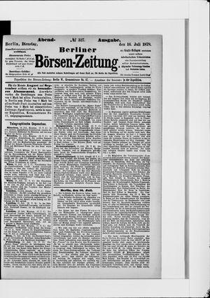 Berliner Börsen-Zeitung vom 16.07.1878
