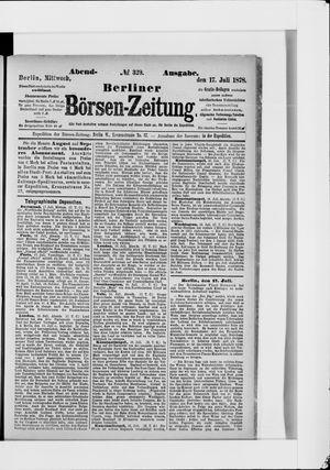 Berliner Börsen-Zeitung vom 17.07.1878