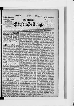 Berliner Börsen-Zeitung vom 18.07.1878