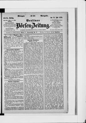Berliner Börsen-Zeitung vom 19.07.1878