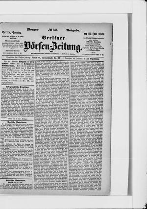 Berliner Börsen-Zeitung vom 21.07.1878