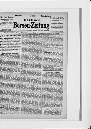 Berliner Börsen-Zeitung vom 22.07.1878