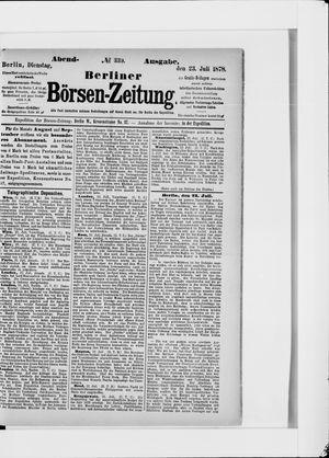 Berliner Börsen-Zeitung on Jul 23, 1878