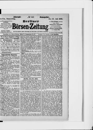 Berliner Börsen-Zeitung vom 25.07.1878