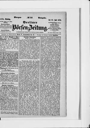 Berliner Börsen-Zeitung vom 28.07.1878