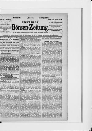 Berliner Börsen-Zeitung vom 29.07.1878