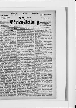 Berliner Börsen-Zeitung vom 04.08.1878