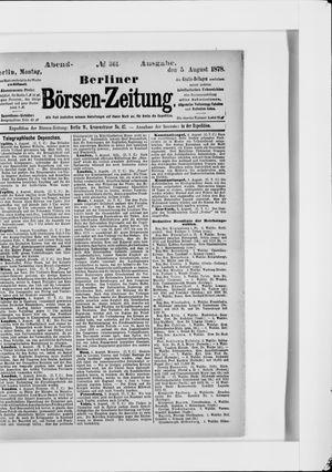 Berliner Börsen-Zeitung vom 05.08.1878