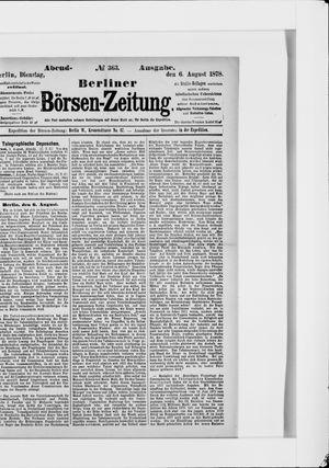 Berliner Börsen-Zeitung vom 06.08.1878