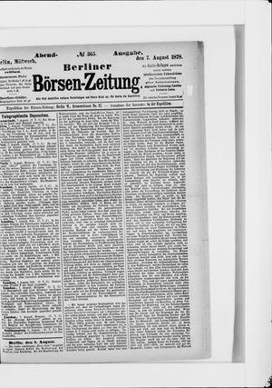 Berliner Börsen-Zeitung vom 07.08.1878