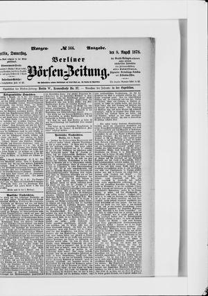 Berliner Börsen-Zeitung vom 08.08.1878