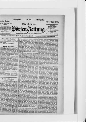 Berliner Börsen-Zeitung vom 09.08.1878