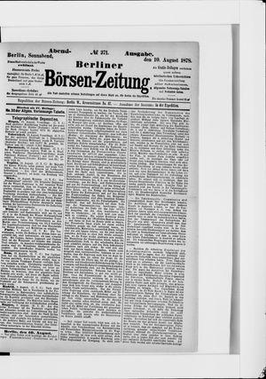 Berliner Börsen-Zeitung vom 10.08.1878