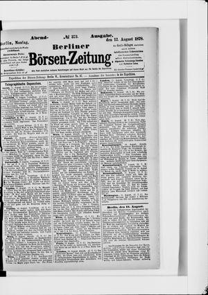 Berliner Börsen-Zeitung vom 12.08.1878