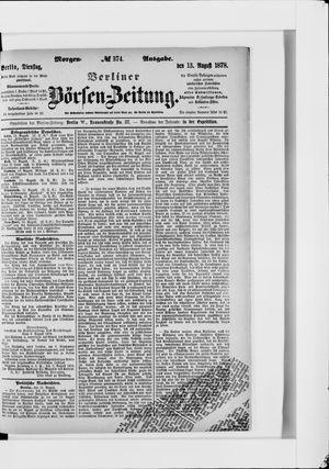 Berliner Börsen-Zeitung vom 13.08.1878