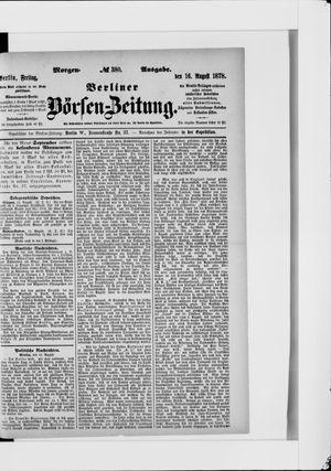 Berliner Börsen-Zeitung vom 16.08.1878