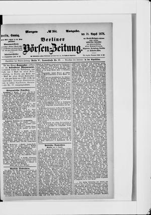 Berliner Börsen-Zeitung vom 18.08.1878