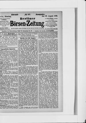 Berliner Börsen-Zeitung vom 20.08.1878