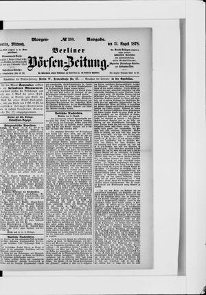 Berliner Börsen-Zeitung vom 21.08.1878