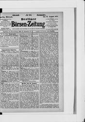 Berliner Börsenzeitung (21.08.1878)