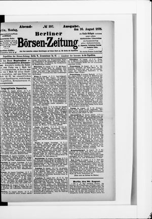 Berliner Börsen-Zeitung vom 26.08.1878