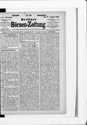 Berliner Börsen-Zeitung vom 27.08.1878