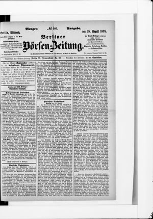 Berliner Börsen-Zeitung vom 28.08.1878