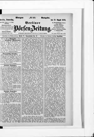 Berliner Börsen-Zeitung vom 29.08.1878