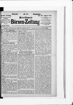 Berliner Börsen-Zeitung vom 30.08.1878