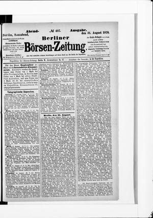 Berliner Börsen-Zeitung vom 31.08.1878