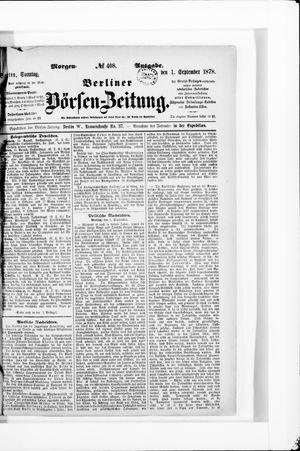 Berliner Börsen-Zeitung vom 01.09.1878