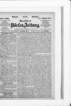 Berliner Börsen-Zeitung vom 03.09.1878