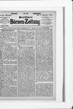 Berliner Börsen-Zeitung vom 04.09.1878