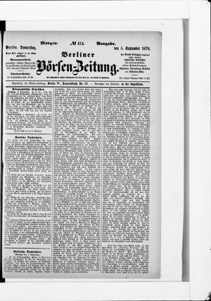 Berliner Börsen-Zeitung on Sep 5, 1878