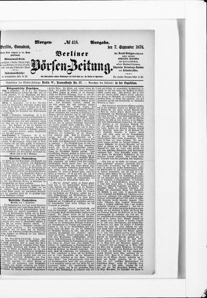 Berliner Börsen-Zeitung vom 07.09.1878