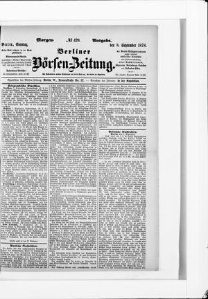 Berliner Börsen-Zeitung vom 08.09.1878