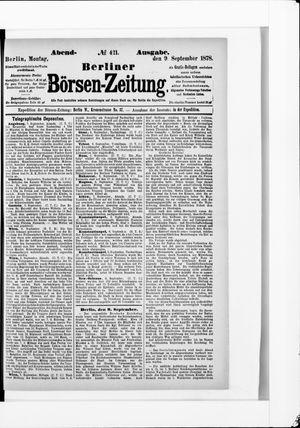 Berliner Börsen-Zeitung on Sep 9, 1878