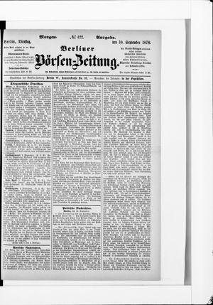Berliner Börsen-Zeitung vom 10.09.1878