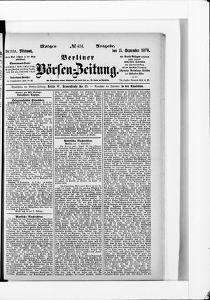 Berliner Börsen-Zeitung vom 11.09.1878