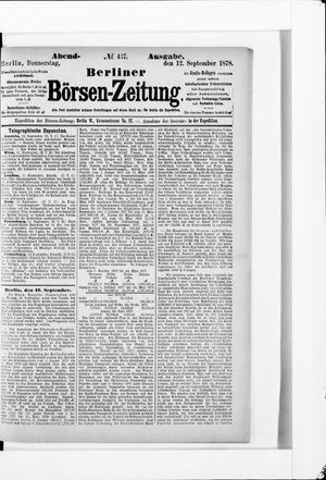 Berliner Börsen-Zeitung vom 12.09.1878