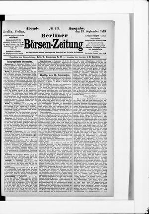 Berliner Börsen-Zeitung on Sep 13, 1878