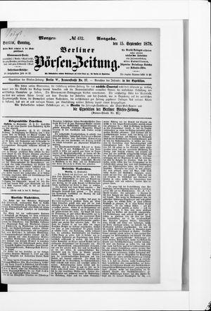 Berliner Börsen-Zeitung vom 15.09.1878
