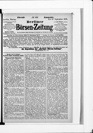Berliner Börsen-Zeitung vom 16.09.1878