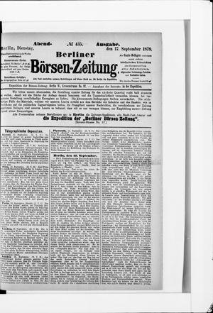 Berliner Börsen-Zeitung vom 17.09.1878